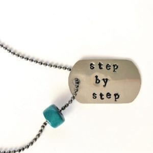 dog tag necklace step by step