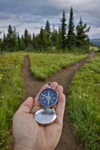 compass and path