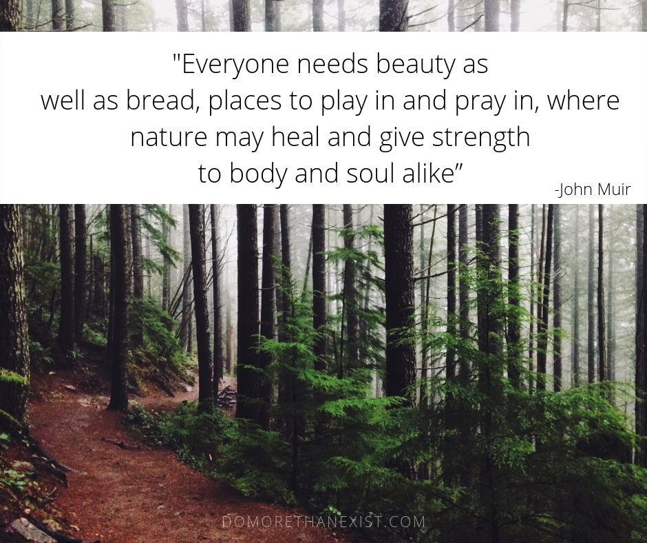 John Muir Everyone needs beauty as well as bread, places to play in and pray in, where nature my heal and give strength to body and soul alike.