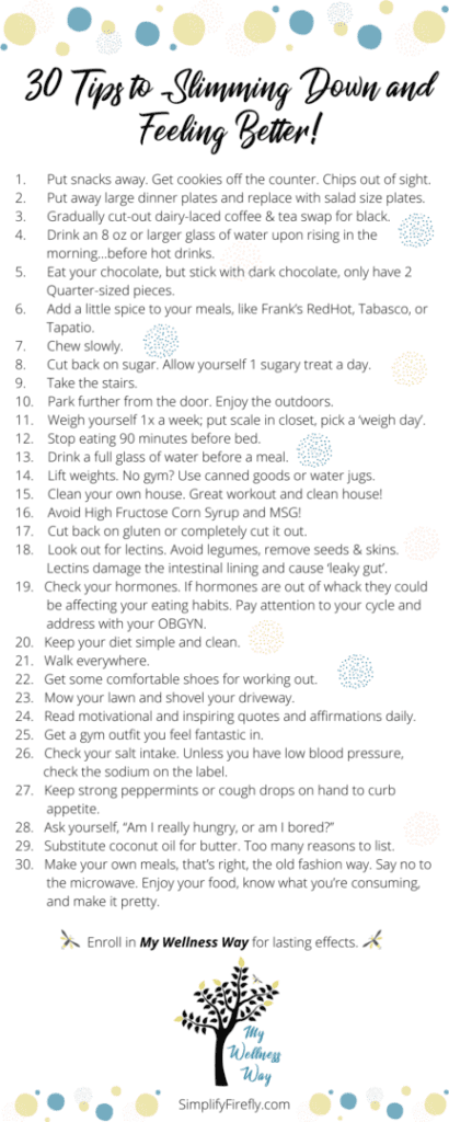 30 tips to lose weight