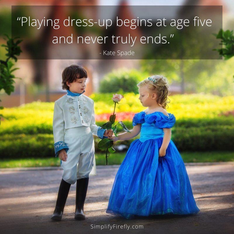 boy and girl playing dress-up