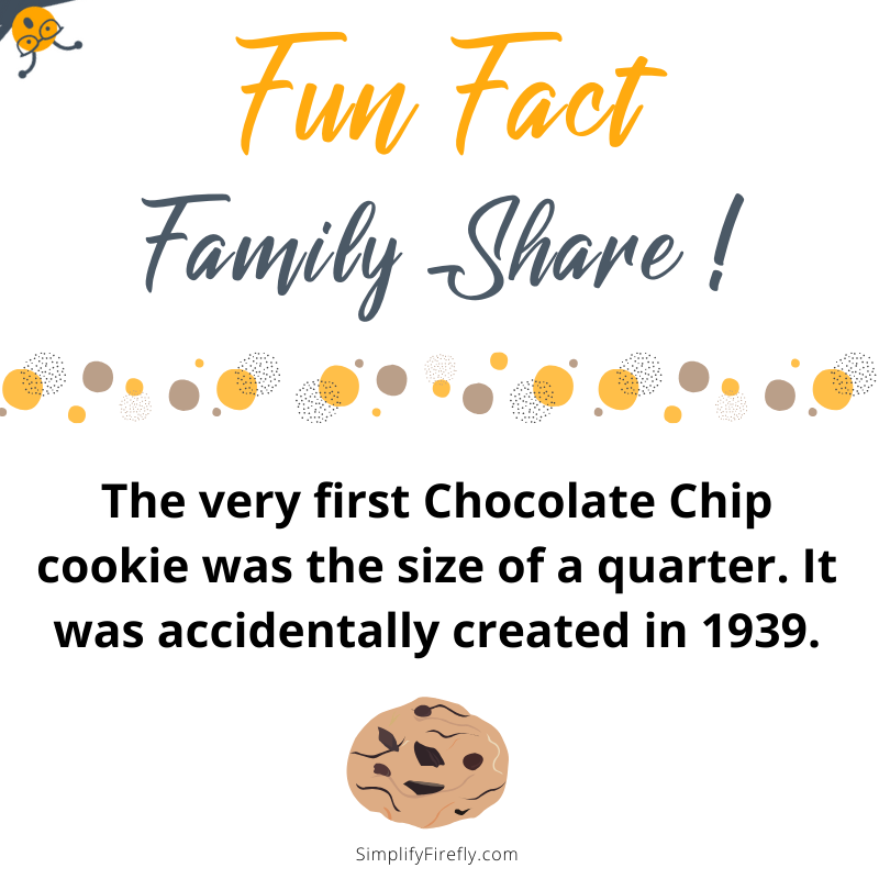 chocolate chip cookie fact