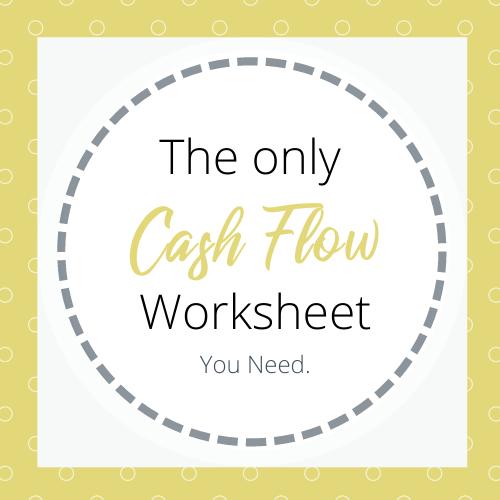 The only cash flow worksheet