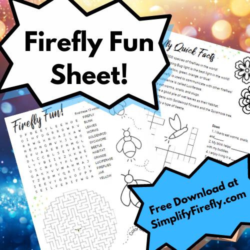 firefly fun sheet