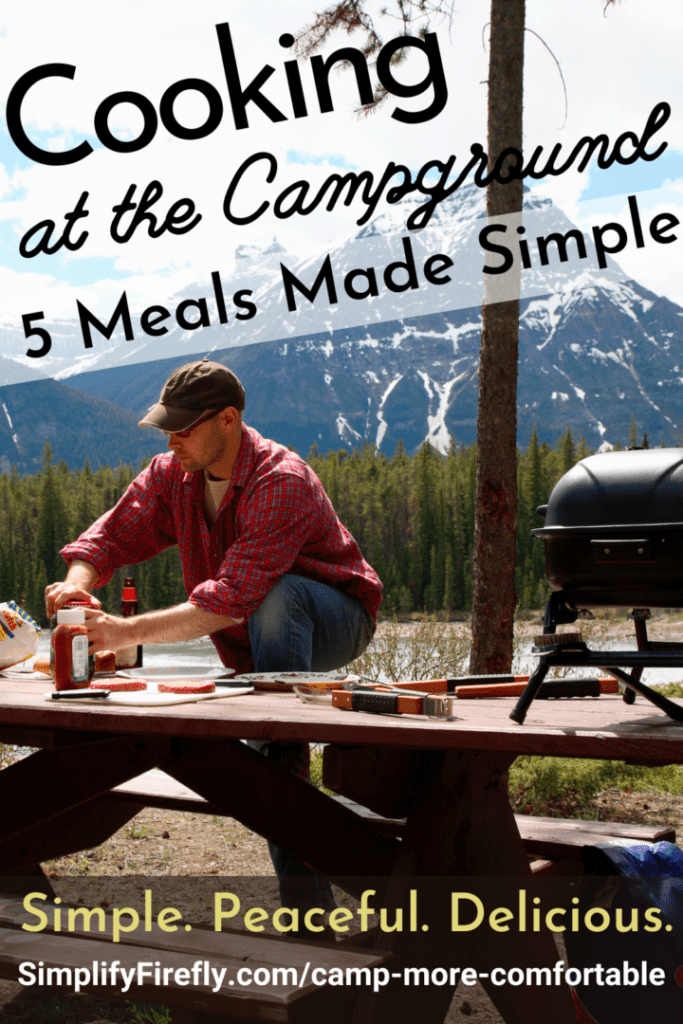cooking at the campground